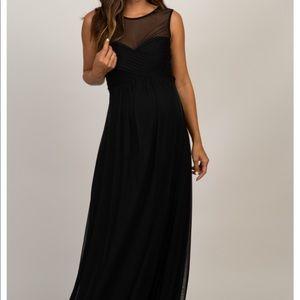 Pinkblush Maternity long black dress